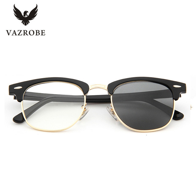 d79c9362138 Vazrobe Glass Lens Photochromic Glasses Men Women eyeglasses frames for  prescription myopia diopter optical lens man