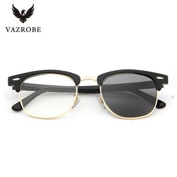 Vazrobe Glass Lens Photochromic Sunglasses Men Women Chameleon Sun Glasses for Man Driving Goggles Change to Grey High Quality sun glasses designs mens