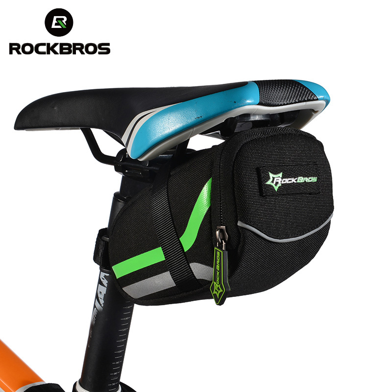 ROCKBROS Cycling Bag Bicycle Outdoor Rainproof Nylon Seat Rear Bag MTB Road Bike Tail Bag Black Saddle Bag Bicycle Accessories