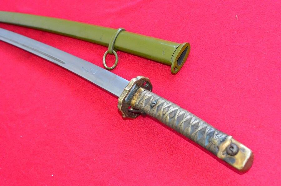 HandMade Japanese Military Nco Sword Samurai Katana Brass Handle Steel Sheath