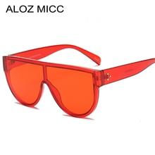 ALOZ MICC 2018 New Oversized Women Sunglasses Brand Designer Big Frame Flat Top Sun Glasses Summer Shades UV400 Q546