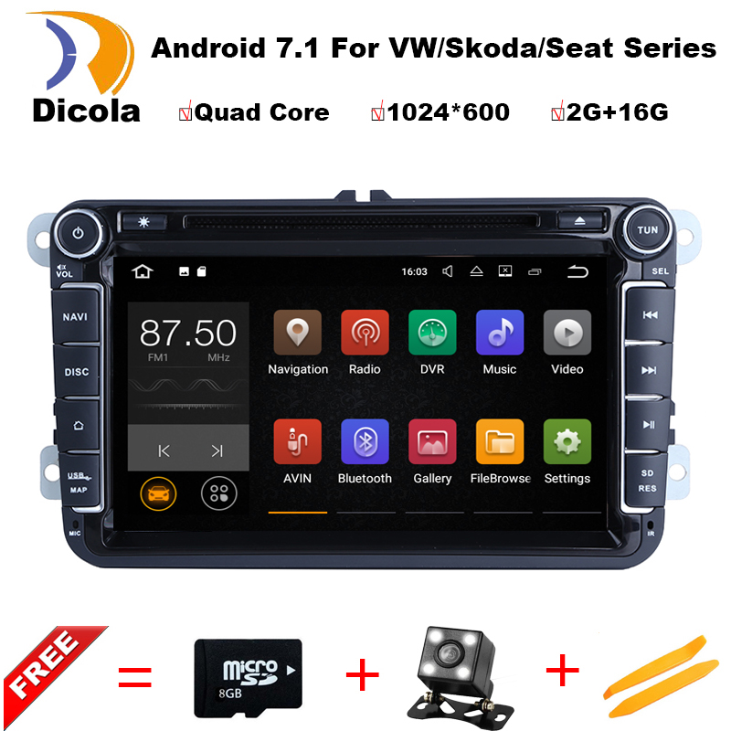 Android 7 1 1 1 6G Quad Core font b Car b font DVD Player For