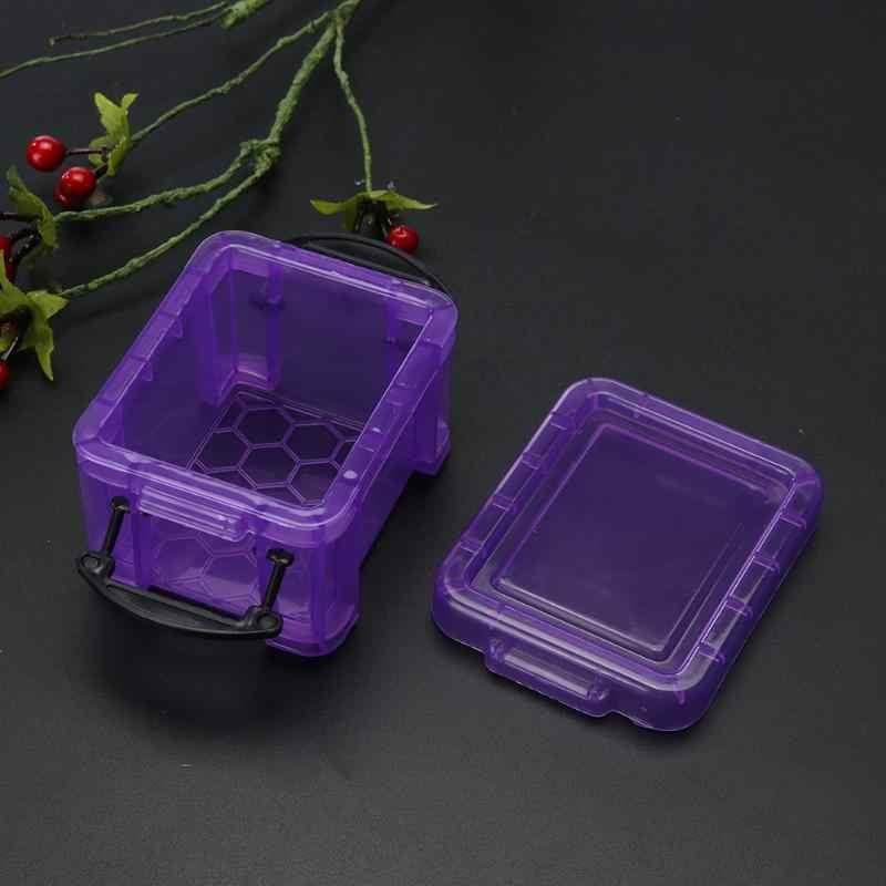 Мини-Сейф настольная коробка для хранения сережек Карамельный Цвет ювелирные украшения для интерьера дома Органайзер Пластик чехол для хранения дома Настольный Органайзер