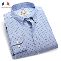 LANGMENG 2016 Hot High quality male long-sleeve slim dress shirt business casual formal oxford shirt mens clothing wholesale