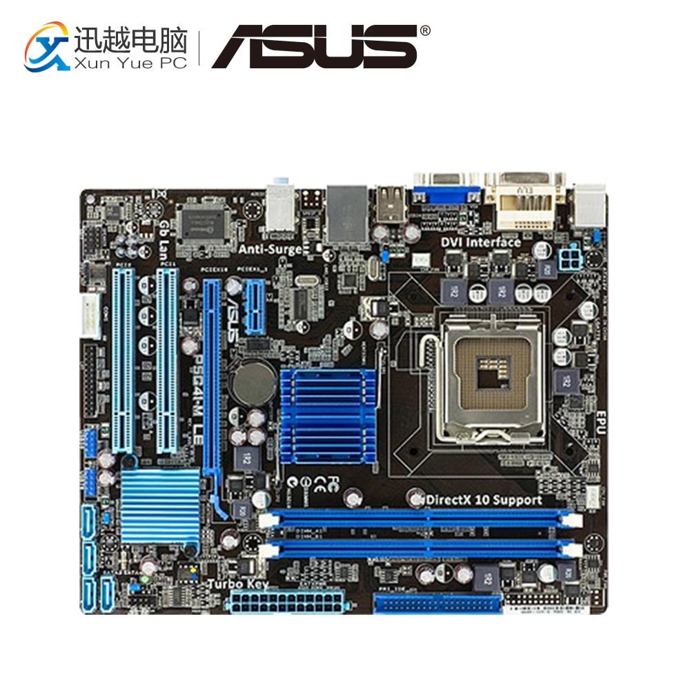 Asus P5G41-M LE Desktop Motherboard G41 Socket LGA 775 DDR2 8G SATA2 USB2.0 uATX asus p5g41 m le original used desktop motherboard g41 socket lga 775 ddr2 8g sata2 usb2 0 uatx
