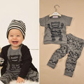 Toddler Boys Kids Print Short Sleeve Top Shirt + Long Pants Clothing