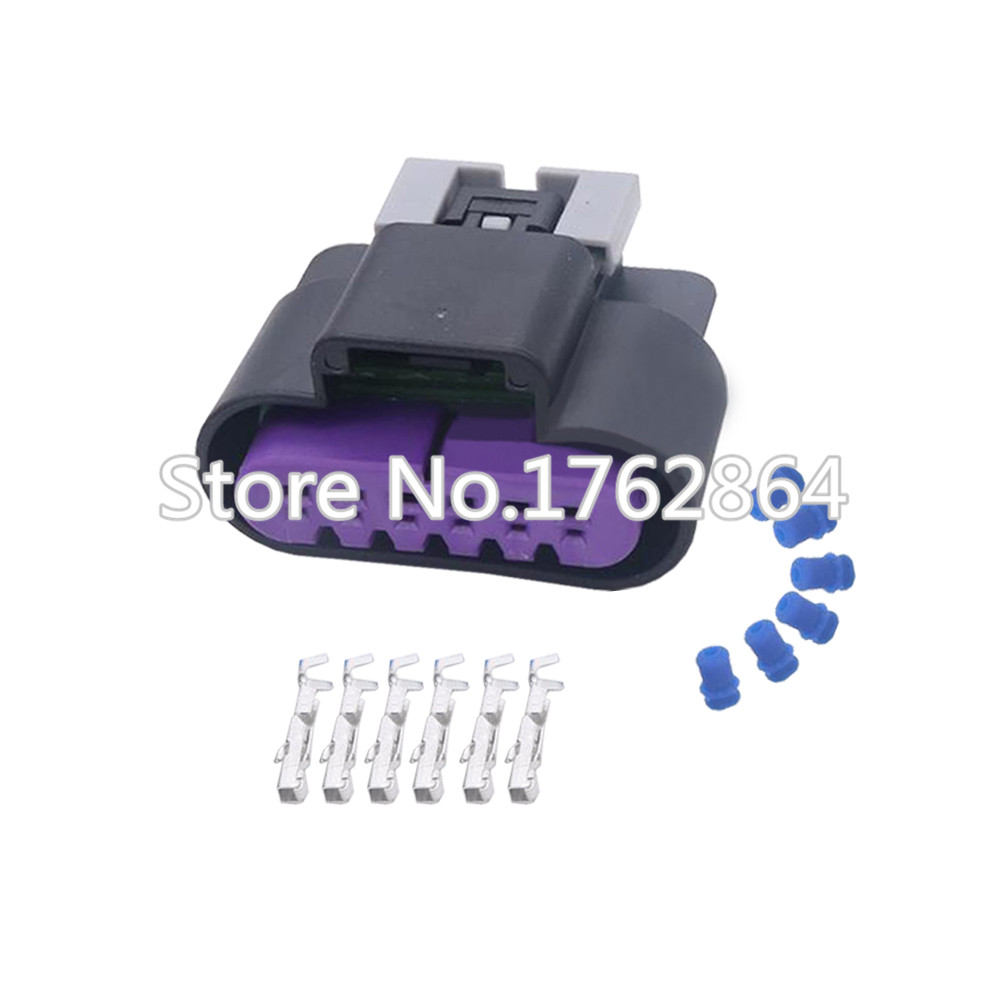 6 Pin Female and Male Automotive Plug Connector Throttle Position Sensor Insert with terminal DJ7065D 1 5 11 21 in Connectors from Lights Lighting