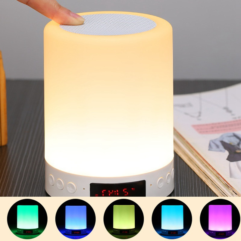 USB Smart Atmosphere LED Night Light Bluetooth Play Desktop Decoration Lights Camping Outdoor Music Colorful Conversion Lamps