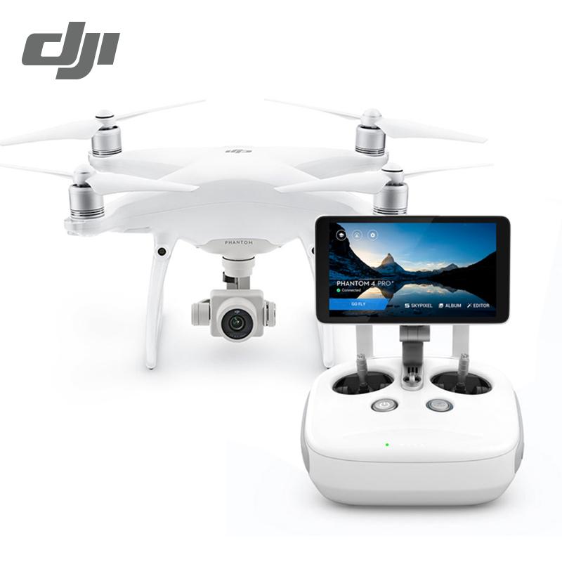 Prix pour Dji phantom 4 pro + et phantom 4 pro drone avec 4 k HD 60fps Caméra 1 pouce 20MP CMOS 5 Direction Obstacle de Détection Quadcopte