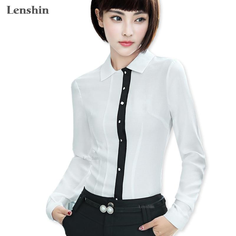 Lenshin لينة ومريحة قميص تنفس بلوزة بيضاء - ملابس نسائية