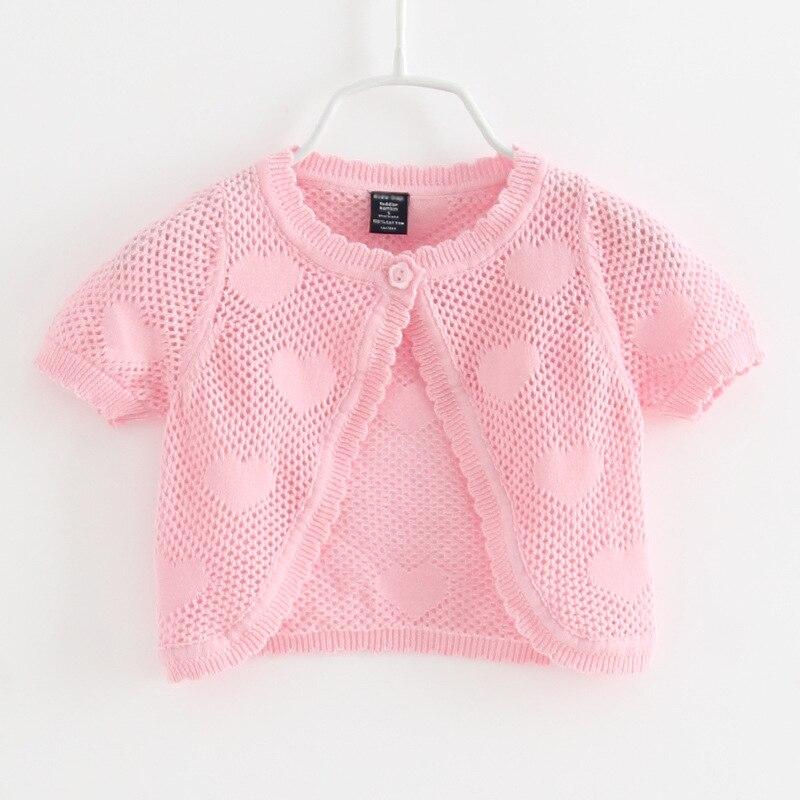 Cardigan Jacket Baby Coat Baby-Girls Toddler 1-Years-Old Summer Heart Pink Short 194001