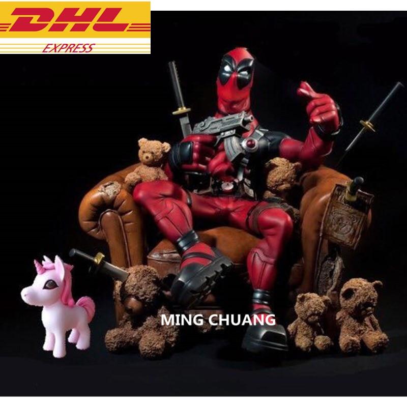 Statue Deadpool buste forces spéciales Wade Winston Wilson arme mutante X Wolverine le surdoué GK 24 CM figurine jouet boîte D687