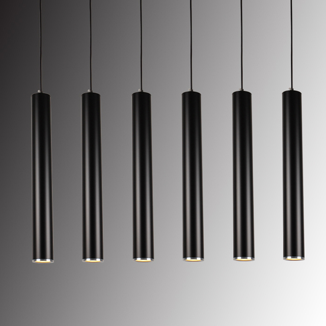 Modern Single Head 3W LED Black White Cylindrical Pendant Lamp Hanging Suspension Fixture Light For Coffee