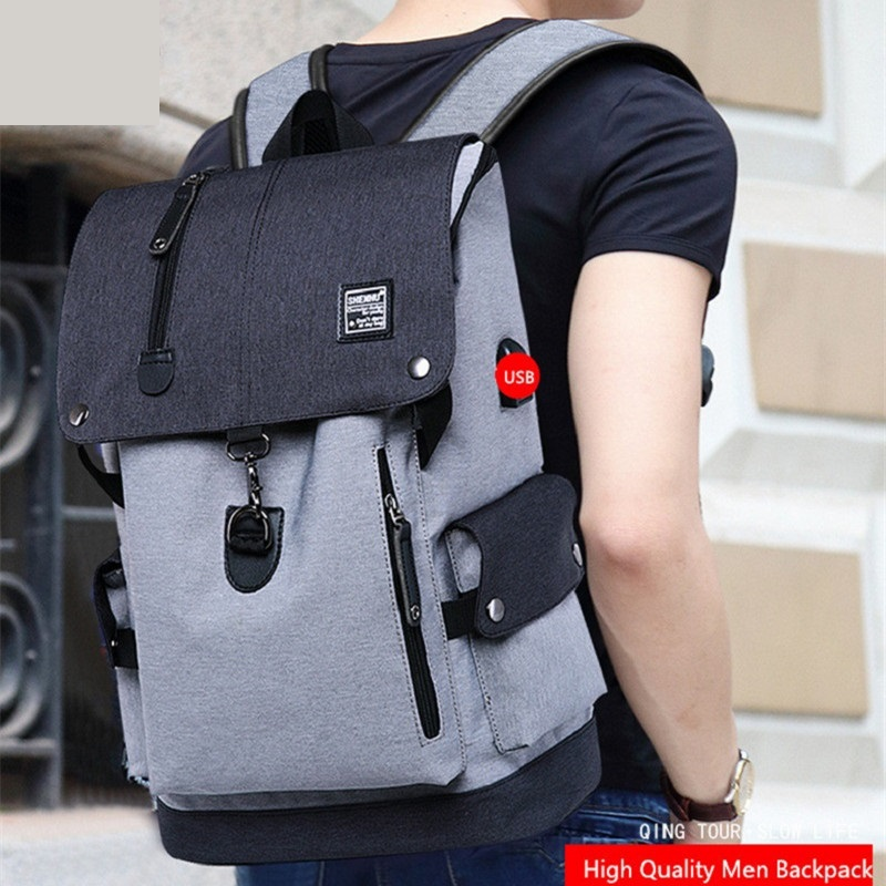 Men's Backpack Laptop Bag Charging USB Multi-layer Travel Space Male Anti-theft Bag Casual Shoulder Bag Mochila Unisex