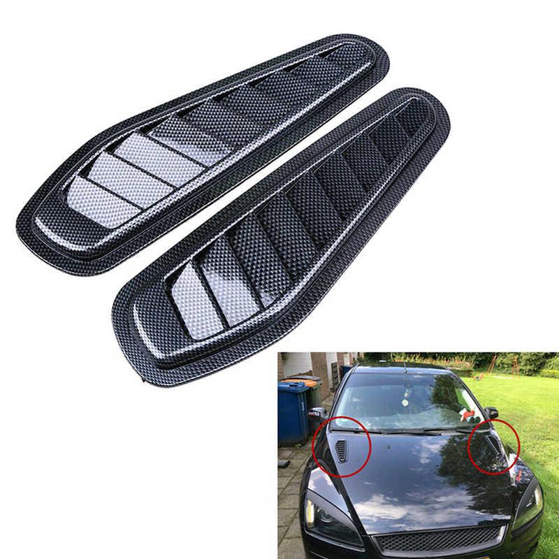 Accessoire d'évent décoratif Air faible puissance paire plastique Scoop en fibre de carbone Style Bonnet utile Durable nouvel ensemble