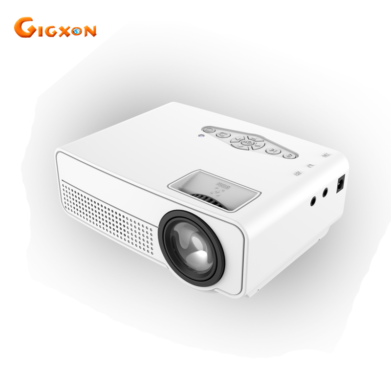 Gigxon - G66 Mini Projector 80 Lumens TV Home Theater Projector 640*480 Support Full HD 1080p Video Media player HDMI LCD Beamer конверт summer infant конверт дл пеленани на липучке swaddleme puppy love голубой со щенками размер s m