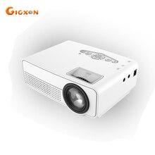 Gigxon-G66 Mini Proyector 80 Lúmenes TV Inicio Proyector de Cine 640*480 Soporte Full HD 1080 p reproductor Multimedia de Vídeo LCD HDMI Proyector