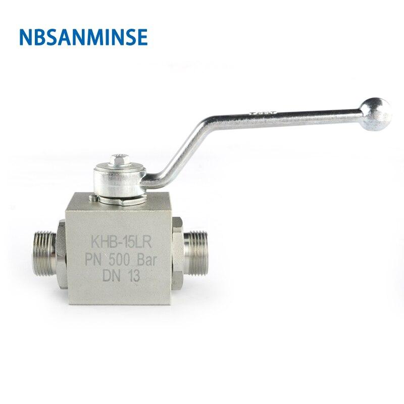 Válvula de bola hidráulica, doble sentido, rosca macho LR SR, acero al carbono, alta presión 31,5 MPa, aplicación de Ingeniería Industrial NBSANMINSE Válvula de Osmosis inversa de 4 vías de 1/4