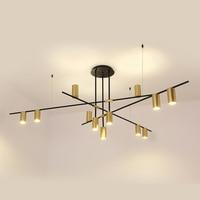 Minimalist Nordic Luxury Creative Branch Pendant Lamp LOFT Copper Metal Designer Decorative Industrial Lamp