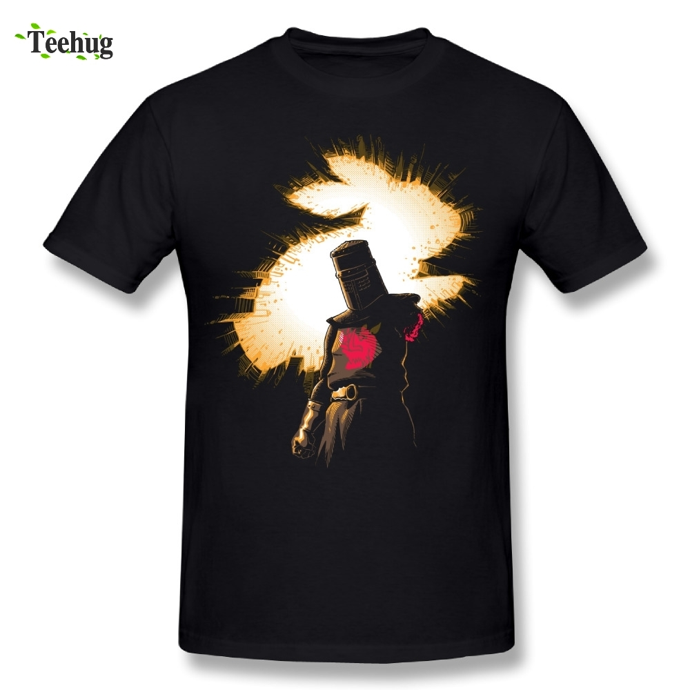 Cool Graphic Boy black knight Tis But A Scratch Monty Python T Shirt Brand Tees