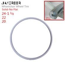 JayCreer 20 дюймов 22 дюйма 24 дюйма без плоских шин для инвалидных колясок, роликов, ходунков, велосипедов, случайный цвет черный или серый