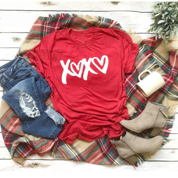 Valentines Day T-Shirt XOXO tshirt Love t shirt Women fashion clothes unisex tee Be Mine tshirt ladies girls shirts
