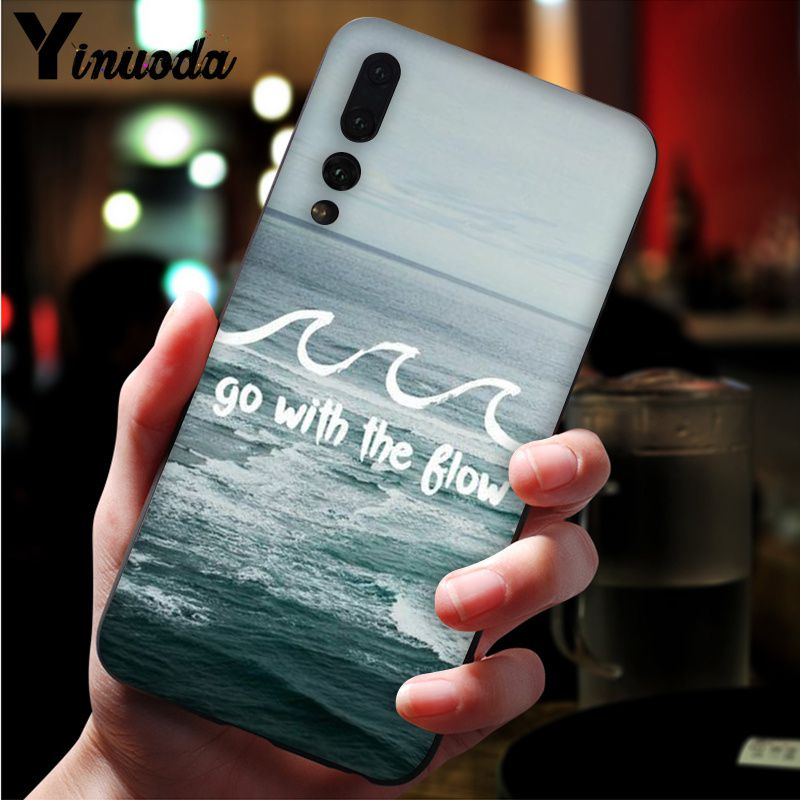 Image 3 - Yinuoda Far mountain sea hot air balloon and light printing Black Phone Case for Huawei Mate10 Lite P20 Pro P10 Plus Honor 9 10-in Half-wrapped Cases from Cellphones & Telecommunications