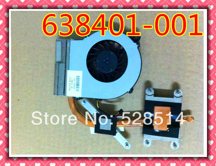 ФОТО Original  638401-001 FAN with heatsink for HP CQ42 G42 CQ62 G62 cooling fan free shipping