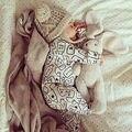 Niños recién nacidos Del Bebé Botella de Leche del Bebé Muchachas Del Muchacho de Manga Larga Del Mameluco Del Mono de la Ropa Outfit 0-12 M
