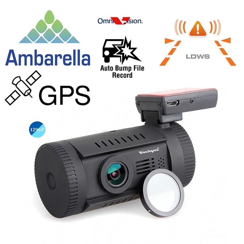 Free Shipping Mini 0826 Ambarella A7LA50 Super HD 1296P Car GPS Mount Dash Camera DVR video