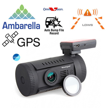 Бесплатная доставка! Мини видеорегистратор для автомобили 0826 Ambarella A7LA50 супер HD 1296 P с GPS горе в-dash и камерой dvr-CPL, и 0806