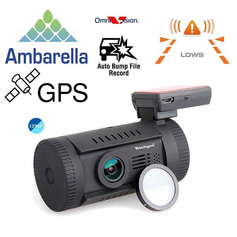 imágenes para Mini 0826 Ambarella A7LA50 Super HD 1296 P GPS Del Coche de Montaje Cámara de la rociada DVR grabador de video Cam CPL, así como 0806