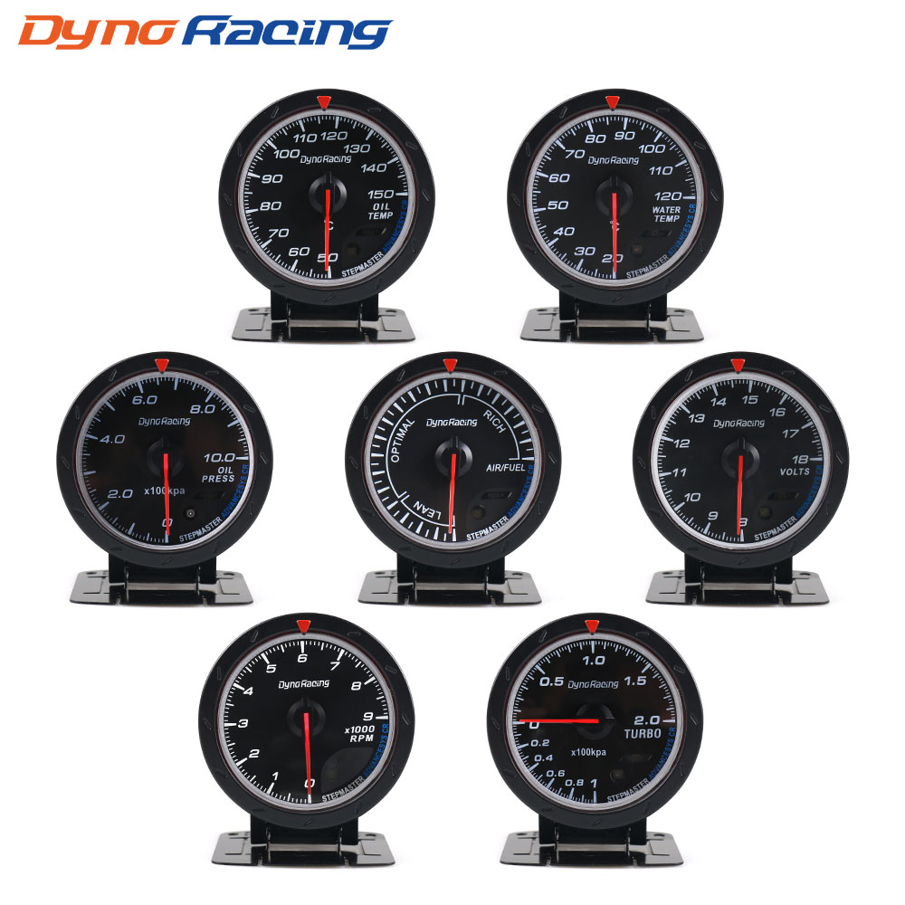 Dynoracing 60 MM Volt meter Air temp Oil gauge Turbo Boost gauge tekan Minyak meter Exhaust gas gauge EGT Vakum pengukur