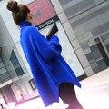 Outono e inverno camisola outerwear fêmea projeto de longo pulôver de gola alta suéter de cashmere feminino batwing manga comprida de malha básica