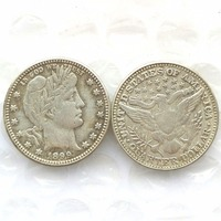 90 Silver 1899 Barber Quarter Dollars Retail Wholesale USA Copy Coins