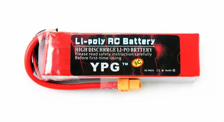 YPG 2600mAh 14.8V 35C 4S Lipo Li-Po Lipoly High performance Battery for RC Hobby