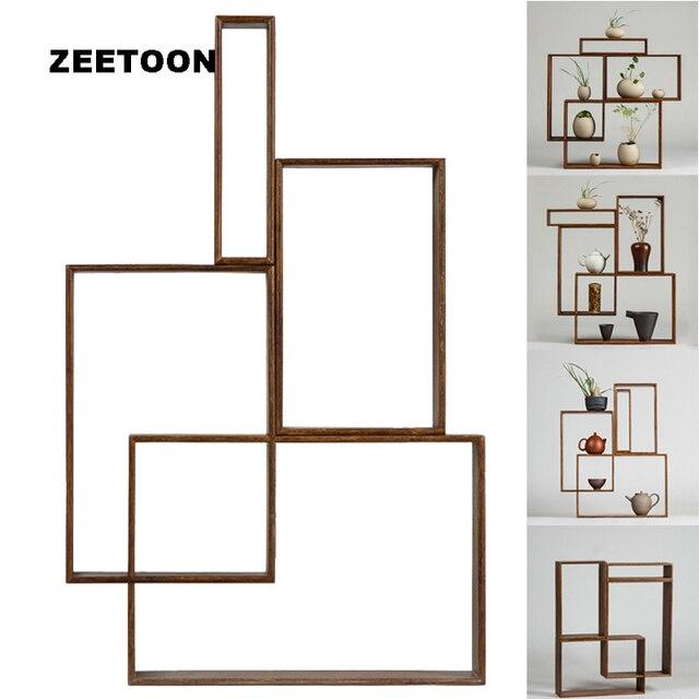Zen Estilo DIY Sólido Marco De Bambú Juego de Té Tetera Florero ...