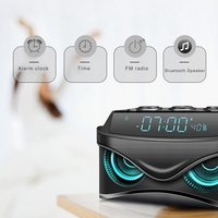 ABSS Led Digital Dimmable Desk Alarm Clock with Wireless 19W Smart Bluetooth Speaker/Micro Tf Slot/Fm Radio/Aux
