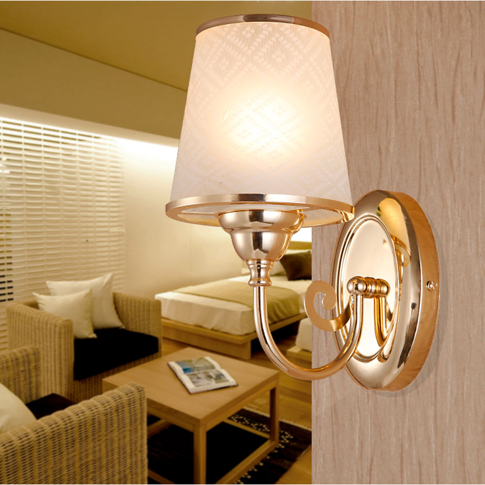 ФОТО Top Modern Wall Light  E27 110v-220v Single 7 W Without Switch Led Wall Lamp Indoor Lighting Gold Double Head Living Room Lights