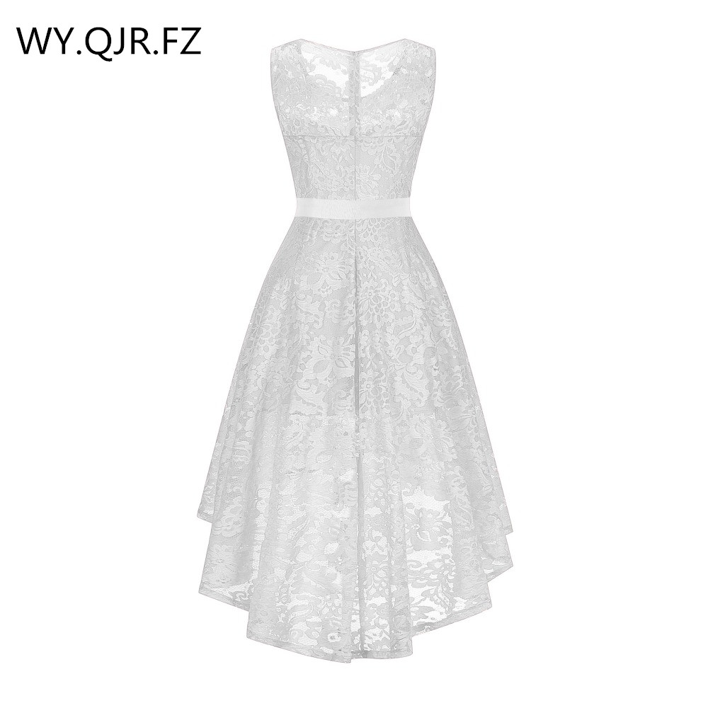 Oml525 # O-neck Lace Weiß Kurze Brautjungfer Kleider Burgund Rot Hochzeit Party Kleid Abendkleid Großhandel Günstige Frauen Kleidung Dauerhafte Modellierung Brautjungfer Kleider