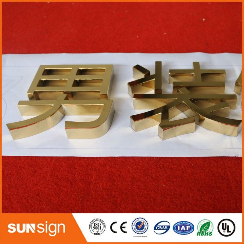 sunsignad Store Aliexpress signshop пользовательские открытый знак золотой цвет письмо знак