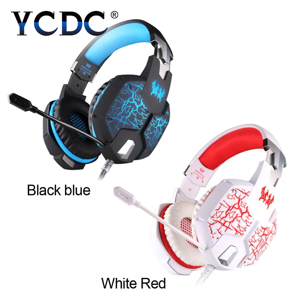 YCDC 3.5mm Colorful LED PC Gaming Headphone Headset Gamer Casque audio Mic Stereo Fone De Ouvido Auriculares For PS4 Gamer USB