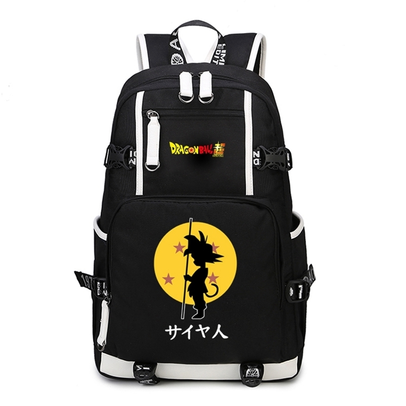 New Dragon Ball Z Backpack School Bags Cosplay Dragon Ball Son Goku Super Saiyan Anime Shoulder Laptop Travel Bags Gift anime pokemon eevee backpack cosplay pikachu shoulder laptop bags knapsack packsack travel school student bags otaku
