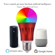 LED E27 Smart WIFI Bulb RGBW Dimmable LED Bulb Light Bulb Work With Alexa/Google Home 16 Million Colours APP  Remote Control wifi led bulb dimmer smart rgbw light bulbs remote control wifi light switch led color changing light bulb works with alexa