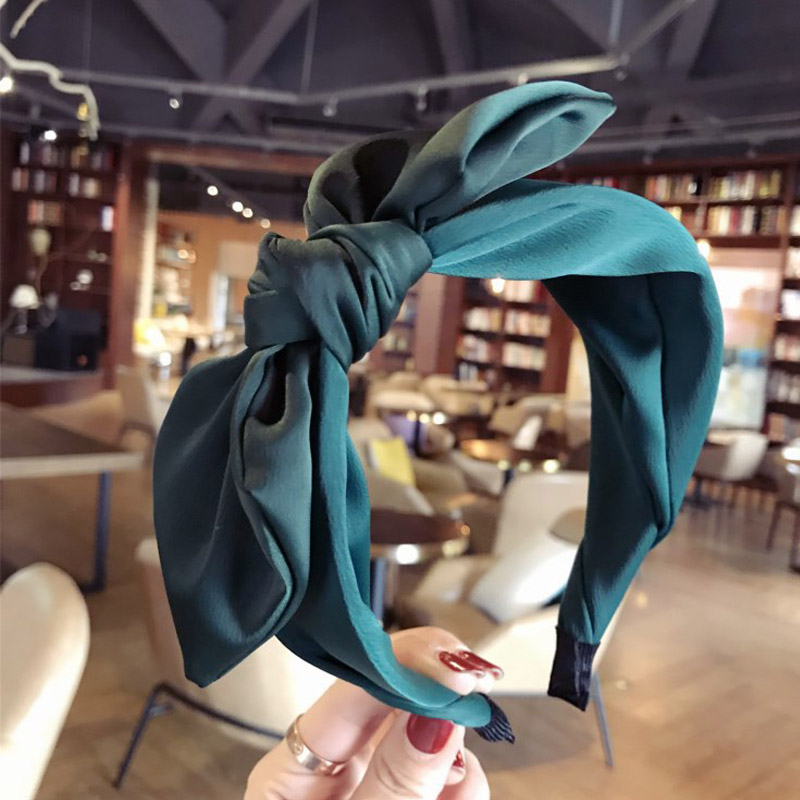 Korean Boutique Hairband Rabbit Ears Cloth Bow Headband Women Girls Hair Head Hoop Bands Accessories For Girl Hairbands Headwear(China)