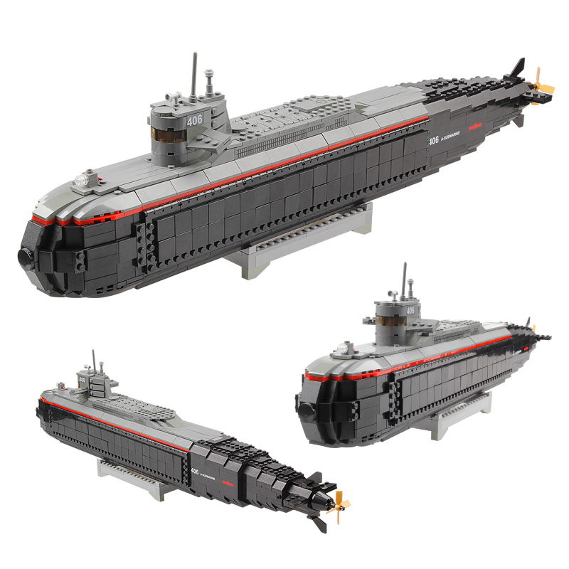 Kazi Brand Building Blocks <font><b>Toys</b></font> Scale Model Nuclear Submarine <font><b>For</b></font> Child Best Gift <font><b>High</b></font> <font><b>Quality</b></font> ABS Plastic Compatible
