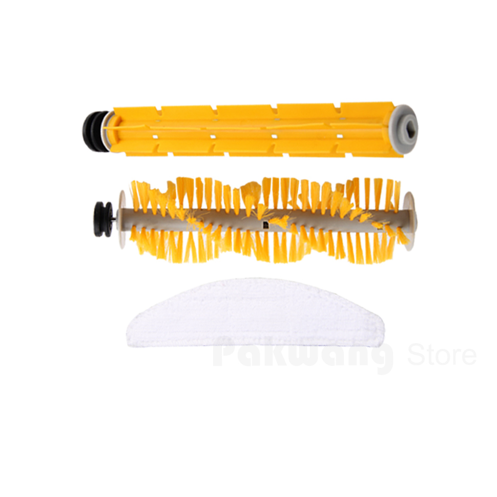 Original A325 Mop*1, Rubber brush*1 and Hair brush *1,  A325 Robot Vacuum Cleaner parts