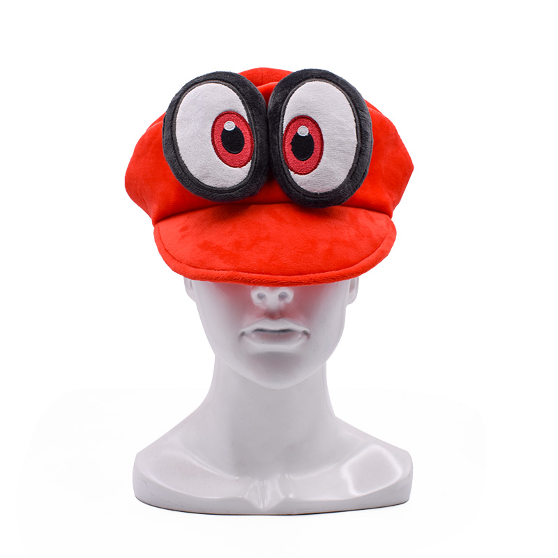 2018 New Super Mario Cosplay Hat Red Odyssey Mario Cap Wearable Baseball Caps Unisex Adjustable Red Hat&Cartoon Hats