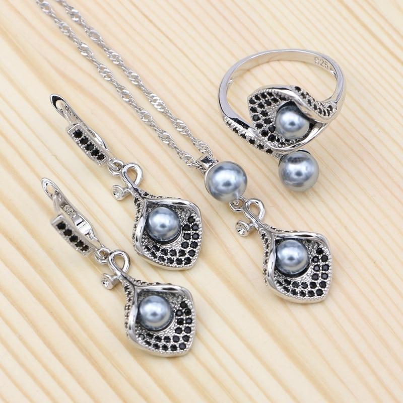 Gray Pearl 925 Silver...
