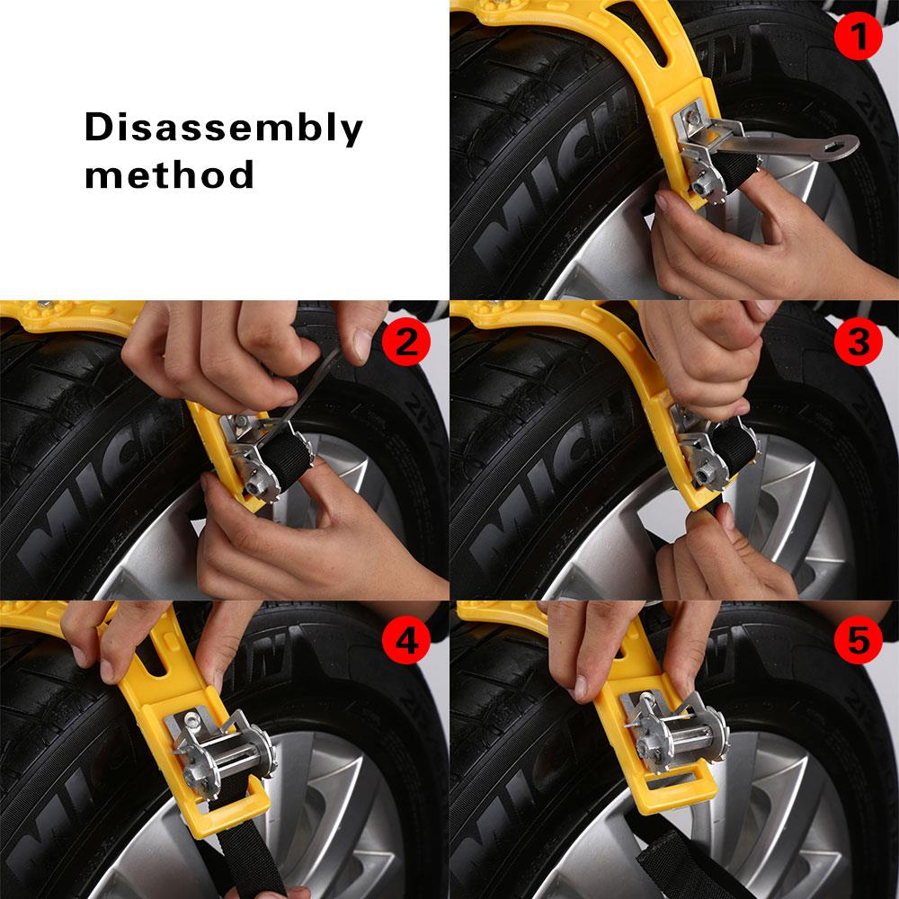 Vehemo Car Snow Chains Antislip Snow Mud Adjustable Anti-skid Car Tire Wheel Chains For Cars/Suv Outdoor Car-Styling + Wrench